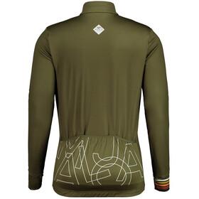 Maloja KratzdistelM. 1/1 Long Sleeve Bike Jersey Men, Oliva